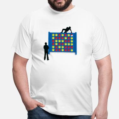Connect 4 Connected - White - Men's T-Shirt