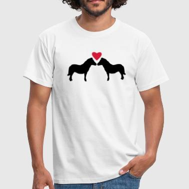 Miniature Ponies Love - Men's T-Shirt