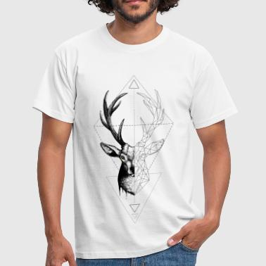 Deer Geometrically - Men's T-Shirt