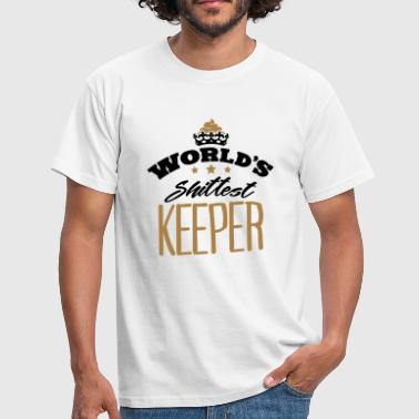 worlds shittest keeper - T-shirt Homme