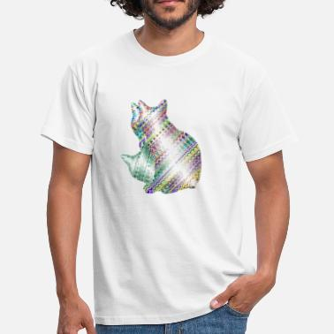 Trippy Trippy Cat - Männer T-Shirt