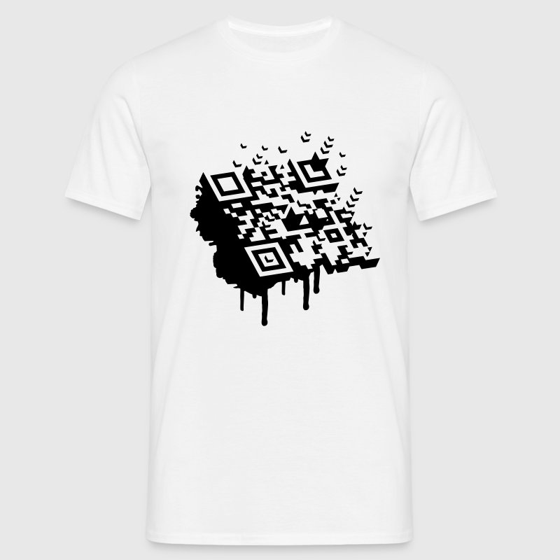 A 3D bar code as a graffiti - Men's T-Shirt