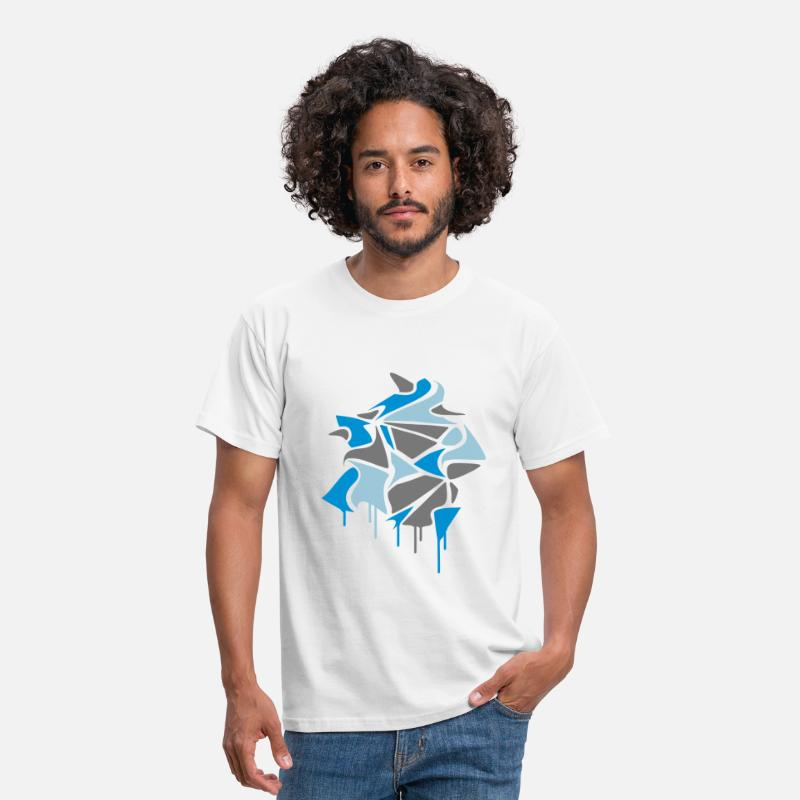 Graffiti T-Shirts - various abstract shapes in graffiti style and dripping paint  - Men's T-Shirt white