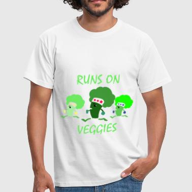 Vegan vegetarian broccoli run - Men's T-Shirt