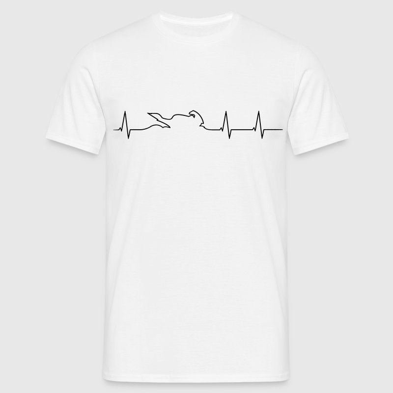 Motorcycle Biker heartbeat  - Men's T-Shirt