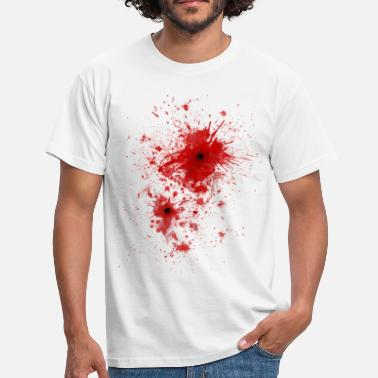 Zombie Blood spatter / bullet wound - Costume  - T-shirt Homme