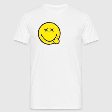 SmileyWorld Classic Oldschool Smiley - Mannen T-shirt