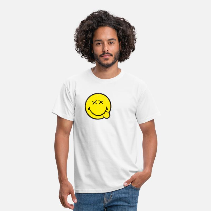 Classic T-Shirts - SmileyWorld Classic Smiley - Men's T-Shirt white