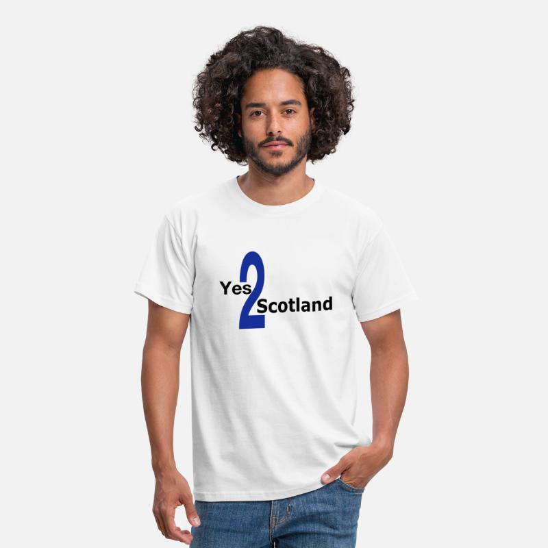 Independence T-Shirts - Yes 2 Scotland - Scottish Independence - Men's T-Shirt white