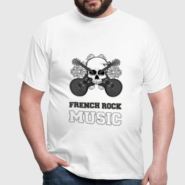 France French rock music NB - T-shirt Homme