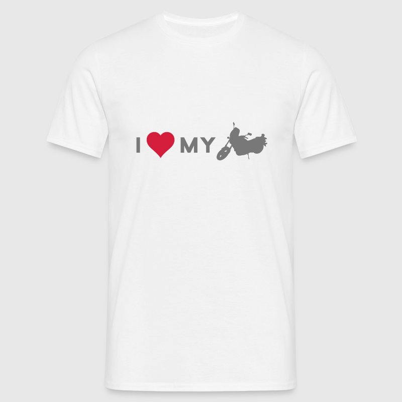 i love my motorcycle - T-shirt Homme