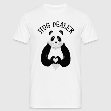 Hug Dealer - Cute Panda Heart Hand Gift Designs - Mannen T-shirt