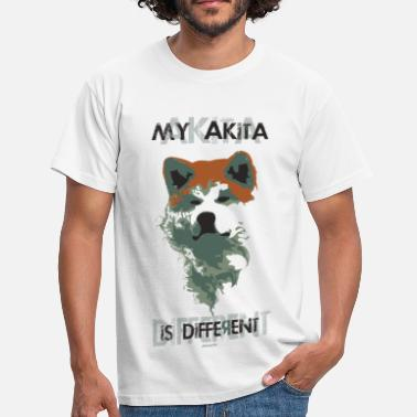 Akita Inu Samurai akita different - transparent white version T-shirt - Maglietta da uomo