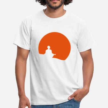 Buddhist Meditation Sunset - Men's T-Shirt