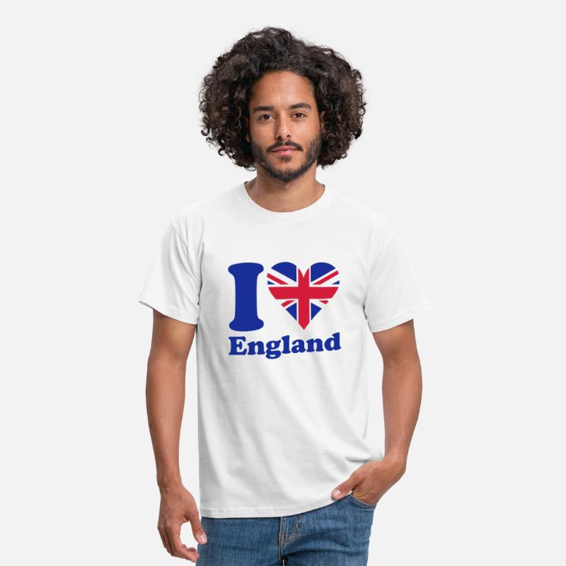 Tower Bridge T-shirts - I love England - T-shirt Homme blanc