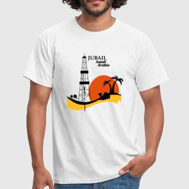Oil Rig Jubail Saudi Arabia Middle East - Men's T-Shirt