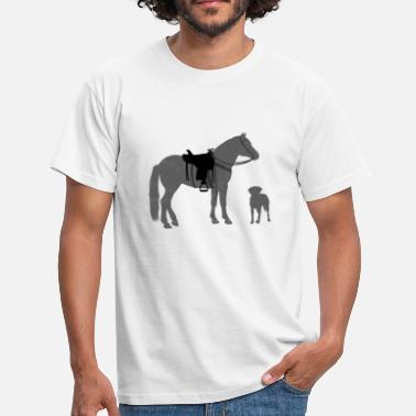 Western Horse Dog and horse - Western rider - Men's T-Shirt