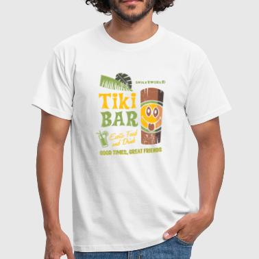 Tropical Smiley World Tiki Bar Teenager T-Shirt - Männer T-Shirt