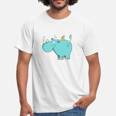 Rhinoceros Wild rhinoceros - Animal Cartoon - Men's T-Shirt