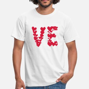 Couples LOVE couple pair partner Heart Valentines Day gift - T-shirt herr