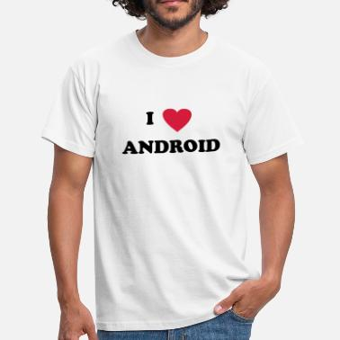 Android I love Android - Männer T-Shirt