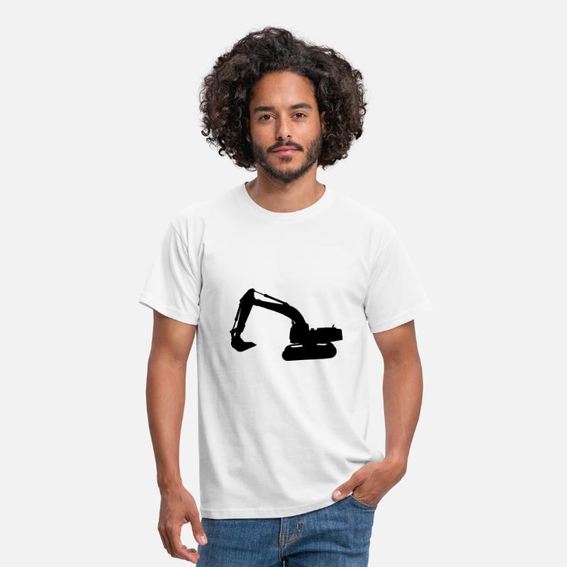 Chantier T-shirts - peleteuse engin chantier  - T-shirt Homme blanc
