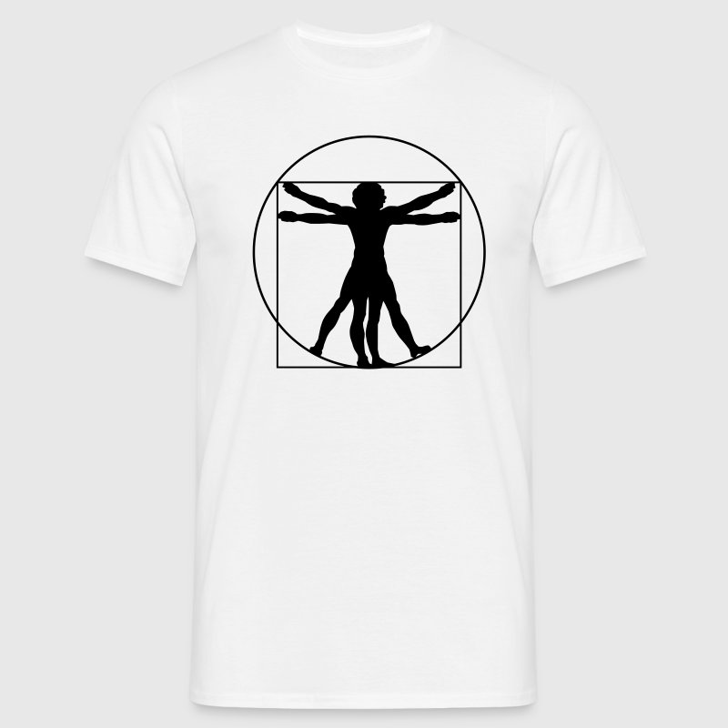 Da Vinci's Vitruvian Man - Men's T-Shirt