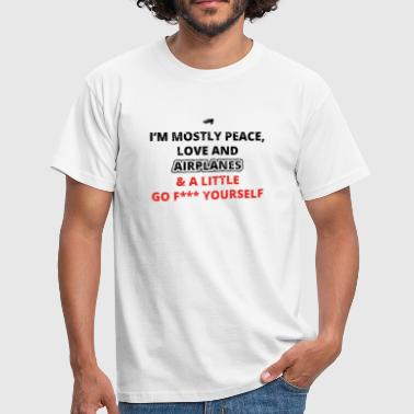 Flying Fuck PEACE LOVE YOURSELF FUCK plane fly png - Men's T-Shirt