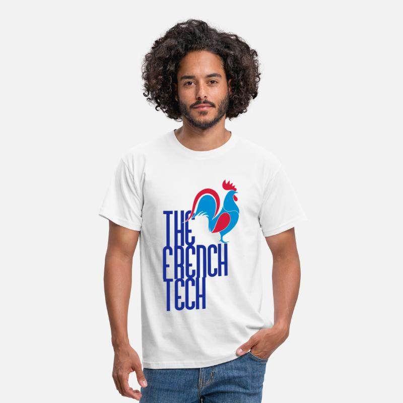 France T-shirts - The French Tech - made in France - geek - T-shirt Homme blanc