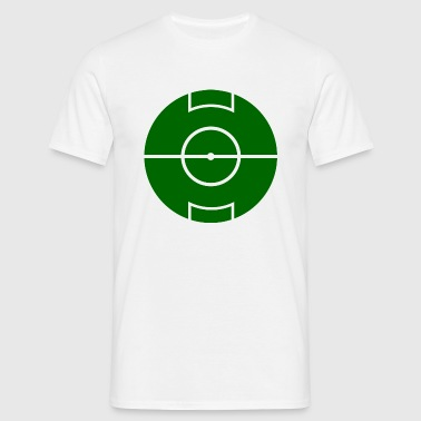 Round Mirror Football Field  - Men's T-Shirt