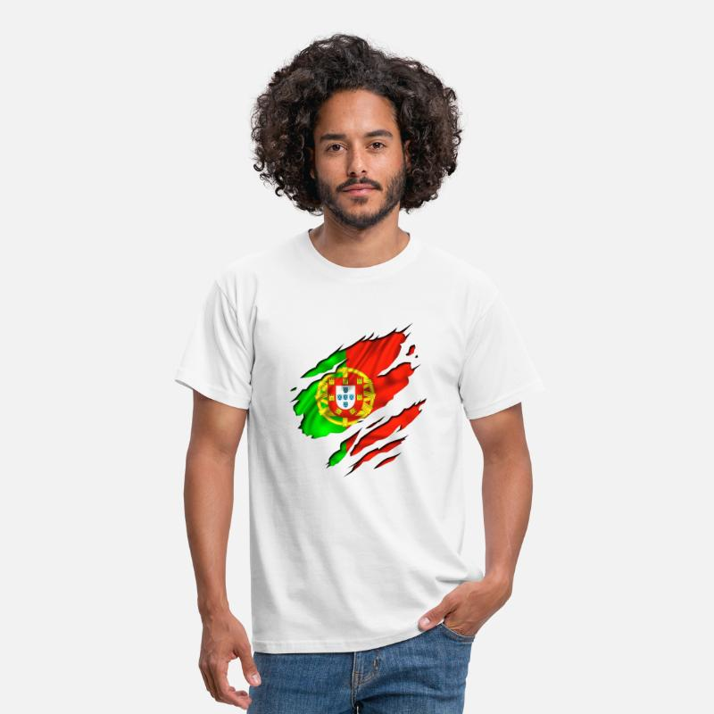 Portugal T-shirts - football pays portugais - T-shirt Homme blanc