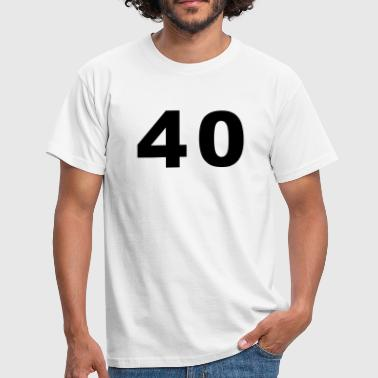 Number - 40 – Forty - Men's T-Shirt