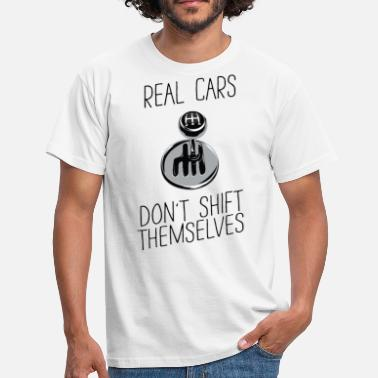Cars A real car - acceleration - funny spell - Men's T-Shirt