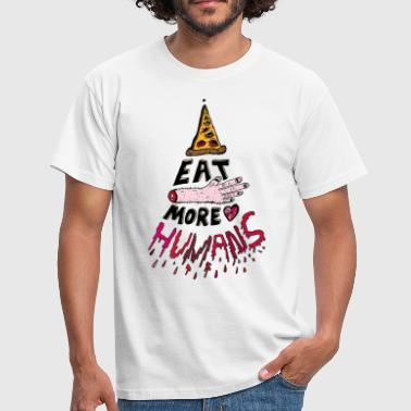 Eat more Humans - Männer T-Shirt