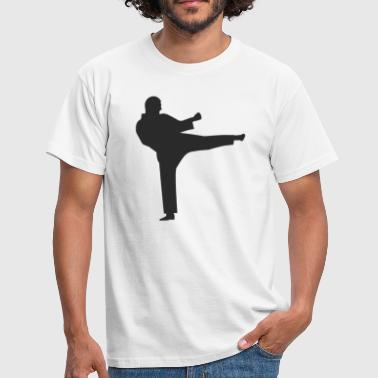 Karate silhouette - Men's T-Shirt
