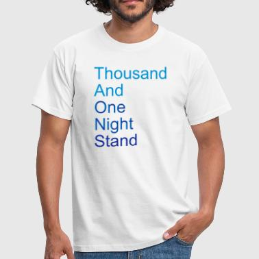 thousand and one night stand (2colors) - T-skjorte for menn