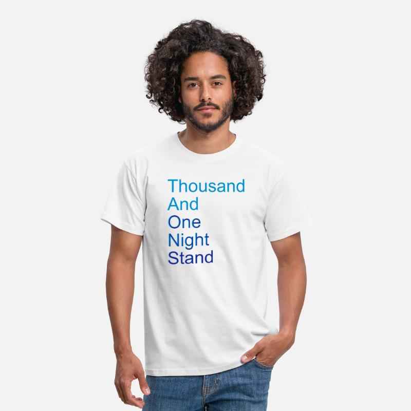 Myytti T-paidat - thousand and one night stand (2colors) - Miesten standard t-paita valkoinen