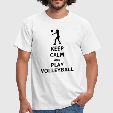 keep calm and play volleyball - Camiseta hombre