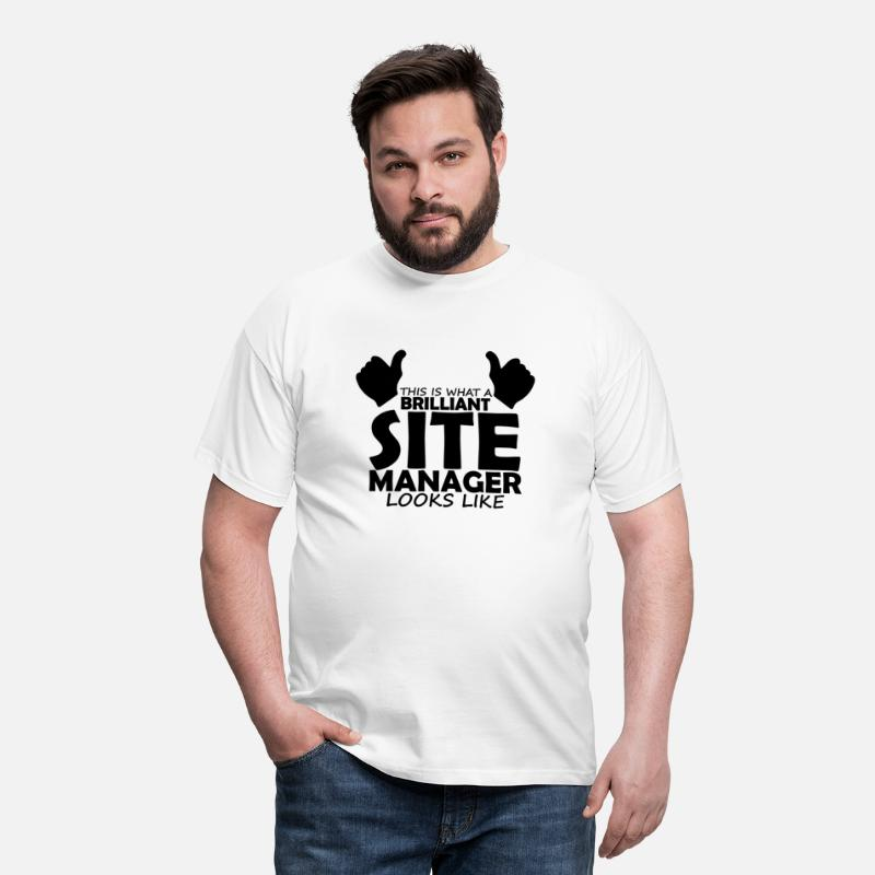 Manager T-Shirts - brilliant site manager - Men's T-Shirt white