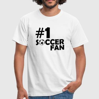 #1 Soccer Fan - Men's T-Shirt