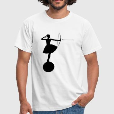 Ballerina with bow and arrow - Men's T-Shirt