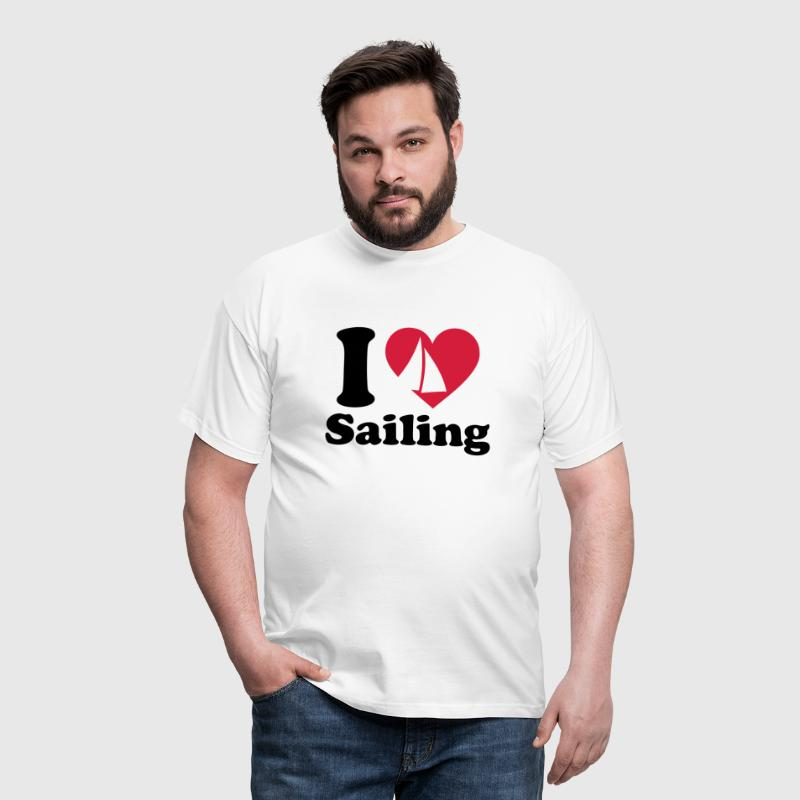 I love Sailing  Segelboot Yacht Segeln Segler - Men's T-Shirt