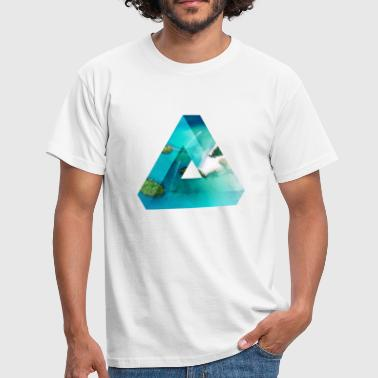 Penrose Triangle Design - Men's T-Shirt