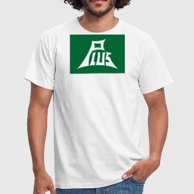 Plus groen wit - Mannen T-shirt