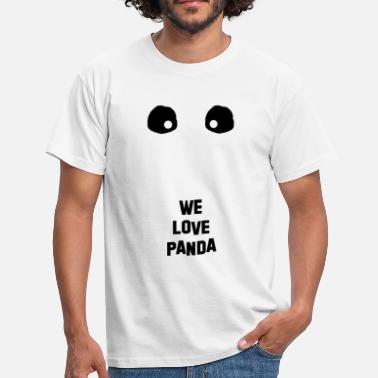 Black And White Panda Panda black white - Men's T-Shirt