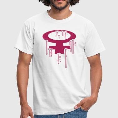 semen hole sex wet drops graffiti stamp spra - Men's T-Shirt