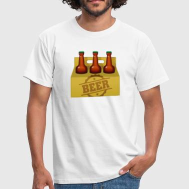 Six Pack Beer A six-pack of beer bottles - Men's T-Shirt