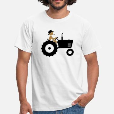 Forestry Farmer on tractor - Men's T-Shirt