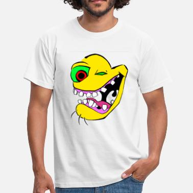 Lunacy  Crazy Smiley  - Men's T-Shirt