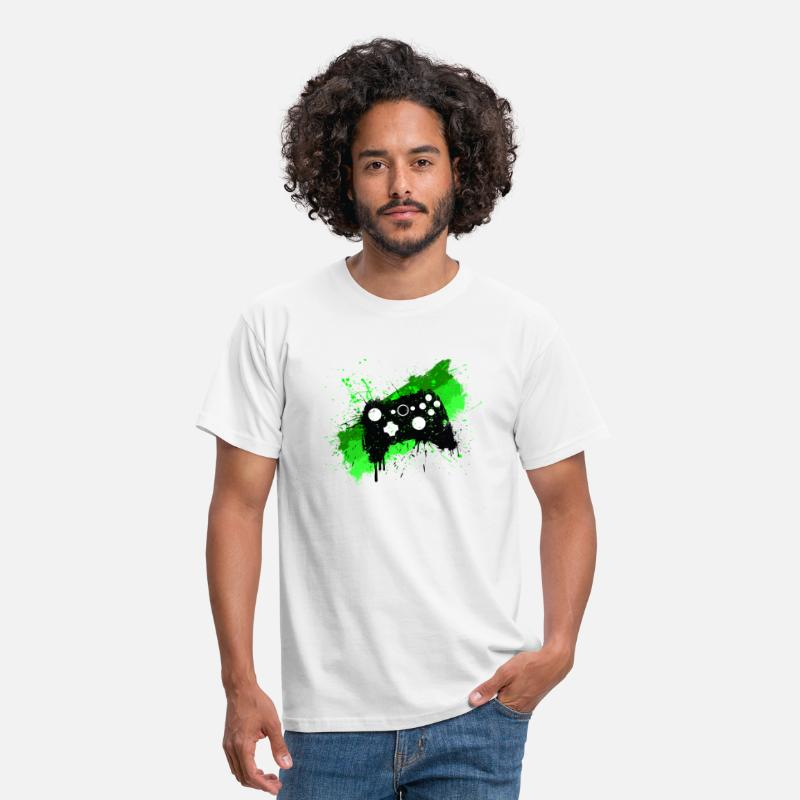 Gaming T-shirts - Box Graffiti Gamer - T-shirt Homme blanc